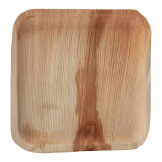 Fiesta Green Biodegradable Palm Leaf Square Plates 250mm