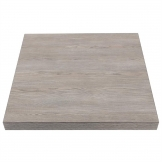 Bolero Pre-drilled Square Table Top Vintage Wood 600mm