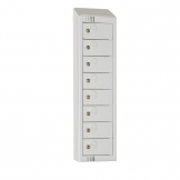 Elite Personal Effects Locker 8 Door Grey Camlock Sloping Top