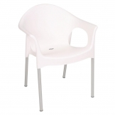 Bolero Stacking Bistro Armchairs White (Pack of 4)