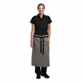 Chef Works Urban Portland Fine Stripe Bistro Apron Grey