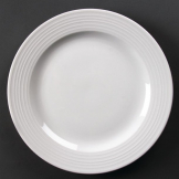 Olympia Linear Wide Rimmed Plates 310mm (Pack of 6)