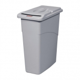 Rubbermaid Slim Jim Confidential Document Container with Lid 87Ltr