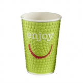 Huhtamaki Enjoy Double Wall Disposable Hot Cups 455ml / 16oz (Pack of 560)