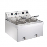Parry Twin Tank Twin Basket Countertop Electric Fryer NPDF6