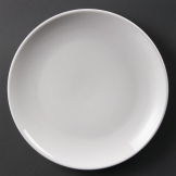 Olympia Whiteware Coupe Plates 250mm (Pack of 12)