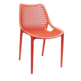 Bolero Orange PP Mesh Side Chair (Pack of 4)