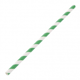 Fiesta Green Biodegradable Paper Straws Green Stripes (Pack of 250)