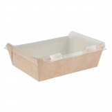 Colpac Combione Recyclable Kraft Food Trays With Lid 910ml / 32oz (Pack of 200)