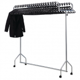 Bolero Twin Top Steel Garment Rail