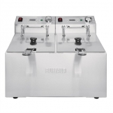 Buffalo Twin Tank Twin Basket 2x5Ltr Countertop Fryer with Timers 2x2.8kW