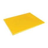 Hygiplas Extra Thick Low Density Yellow Chopping Board Large