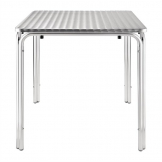 Bolero Square Stacking Table Stainless Steel 700mm