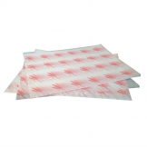 Burger Wrapping Paper Sheets Red 245 x 300mm (Pack of 1000)