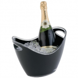 APS Black Acrylic Wine And Champagne Bucket