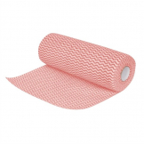 Jantex Non Woven Cloths Red (Roll of 100) (Pack of 100)