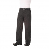 Chef Works Unisex Professional Series Chefs Trousers Grey Herringbone Stripe L