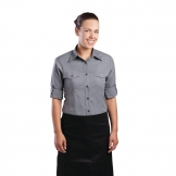 Chef Works Womens Pilot Shirt Grey XS