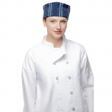 Chef Works Presidio Navy Satin Stripe Cool Vent Beanie