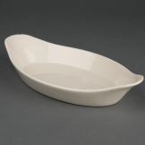 Olympia Ivory Oval Eared Dishes 260x 140mm (Pack of 6)