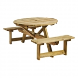 King Round 4 Seater Picnic Table