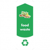 Rubbermaid Food Waste Stickers (Pack of 4)