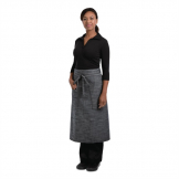 Chef Works Urban Corvallis Crosshatch Bistro Apron Black and Steel Grey