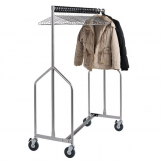 Bolero Heavy Duty Z Garment Rail With 25 Anti Theft Hangers
