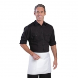 Chef Works Mens Pilot Shirt Black 2XL