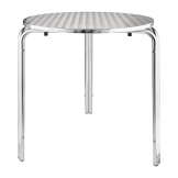 Bolero Round Stainless Steel Bistro Table 700mm (Single)