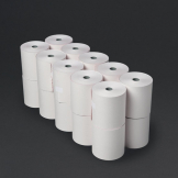 Non-thermal 2ply White and Pink Till Roll 76mm x 70mm