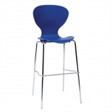Bolero Stacking Blue Plastic High Stool (Pack of 4)
