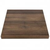 Bolero 600mm Pre-Drilled Square Table Top Rustic Oak