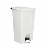 Rubbermaid Step On Pedal Bin White 87Ltr