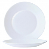 Arcoroc Opal Restaurant Wide Rim Plates 254mm (Pack of 6)
