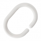 Mitre Essentials May Plastic Shower Curtain Ring (Pack of 12)