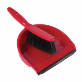 Jantex Soft Dustpan and Brush Set Red