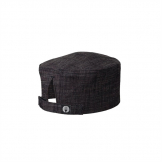 Chef Works Corvallis Crosshatch Beanie Black and Burgundy