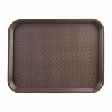 Kristallon Medium Polypropylene Fast Food Tray Brown 415mm