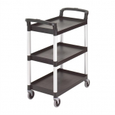 Cambro Three Shelf Utility Cart Black