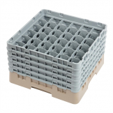 Cambro Camrack Beige 36 Compartments Max Glass Height 257mm