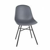 Bolero Arlo Side Chairs with Metal Frame Charcoal (Pack of 2)