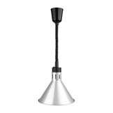 Buffalo Conical Retractable Heat Shade Silver Finish