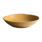 Pillivuyt Teck Shallow Round Bowl 230mm Honey (Pack of 3)