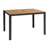 Bolero Acacia Wood and Steel Rectangular Table 1200mm