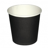 Fiesta Disposable Espresso Cups Single Wall Black 112ml / 4oz (Pack of 1000)