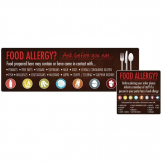 Food Allergen Window and Wall Stickers (Pack of 8)