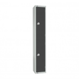 Elite Double Door Coin Return Locker Graphite Grey