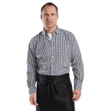 Chef Works Mens Gingham Shirt Black M