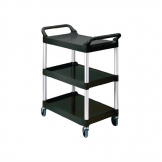 Rubbermaid Compact Utility Trolley Black